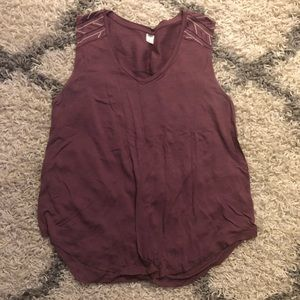 Old navy tank top with geometric design on back